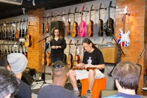 Workshop sobre timbres de guitarra